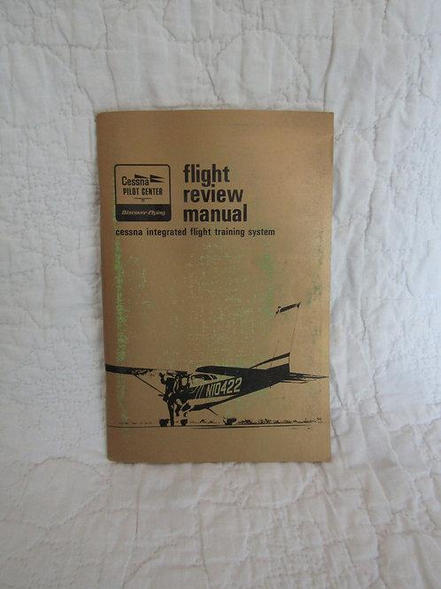 1974 Cessna Flight Review Manual Integrated Flight Training System