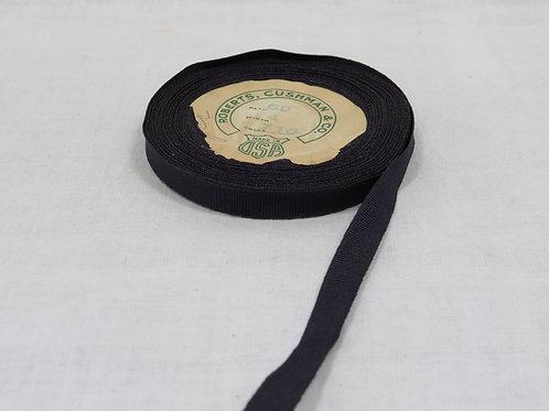"Grosgrain Ribbon 3/8"" navy blue Vintage Item"