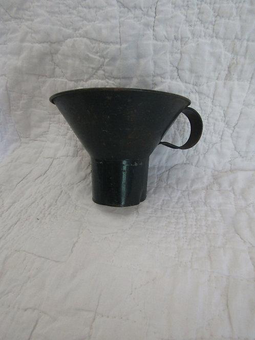 Vintage Metal Canning Funnel Green