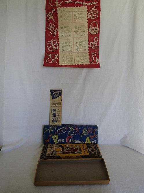 Pipe Cleaner Art Set Chenille Retro Vintage