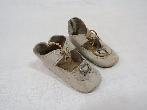 Infant shoes with Cut Steel Buckle Vintage