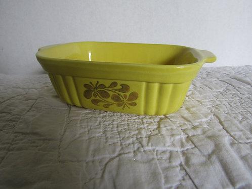 Vintage Pfaltsgraff Small Casserole Dish 16 oz Yellow