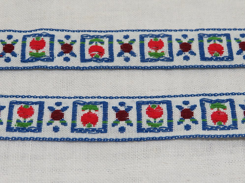 """Woven Ribbon trim with Retro Design 5 yards x 5/8"""" wide vintage item"""
