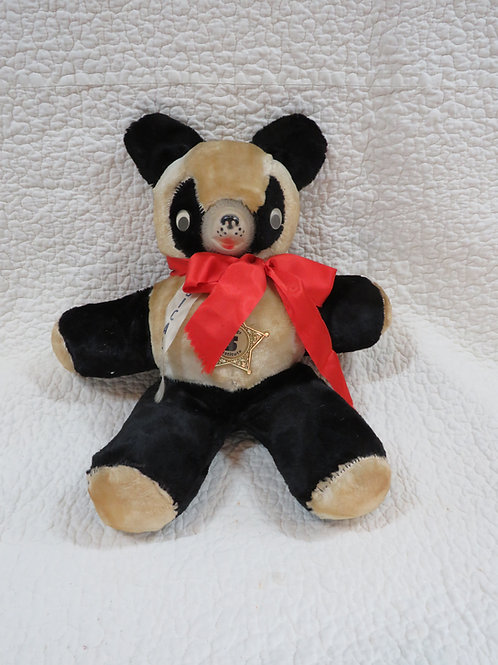 Stuffed Bear Musical Large with badge Savings Institute