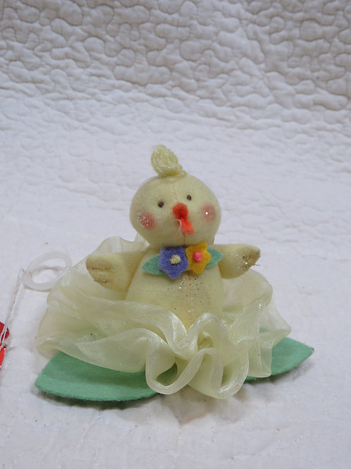 Baby Chick Ornament nos Flower Friend by Russ Vintage