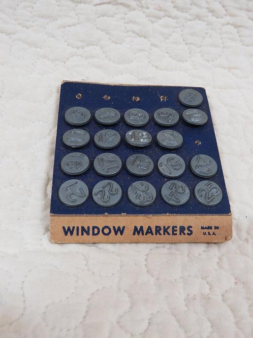 Window Marker Numbers Metal Vintage