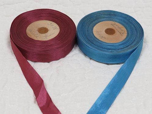 "2 Ribbon spools 1/2"" x many yards Vintage"