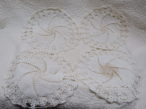 4 Crocheted Doilies not perfect