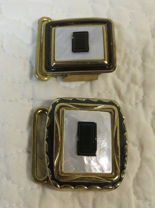 2 Shell Buckles Vintage nos