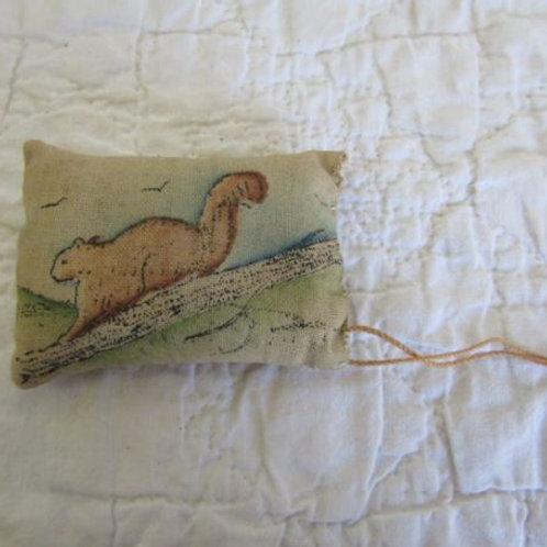 Pillow Sachet Squirrel Vintage Item