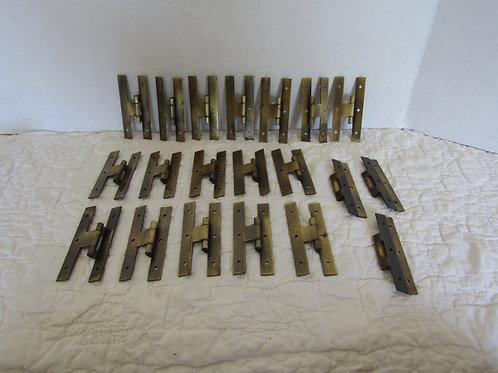 20 H Hinges Colonial style metal vintage items
