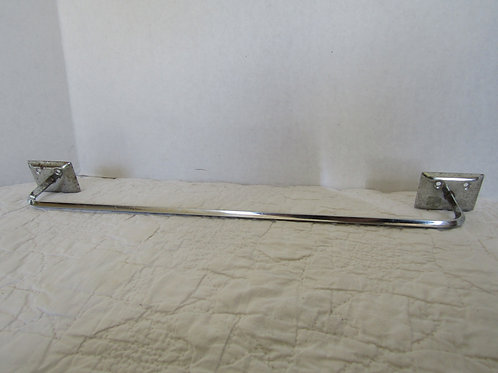 Vintage Chrome Towel Bar Single