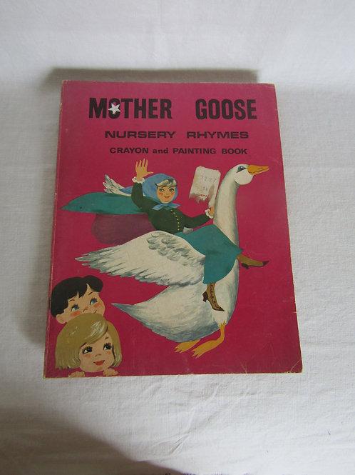 Mother Goose Nursery Rhymes Coloring Book vintage