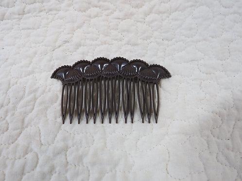 Hair Comb Brown Plastic Vintage