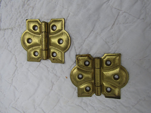 2 Vintage Metal Hinges Made by Stanley