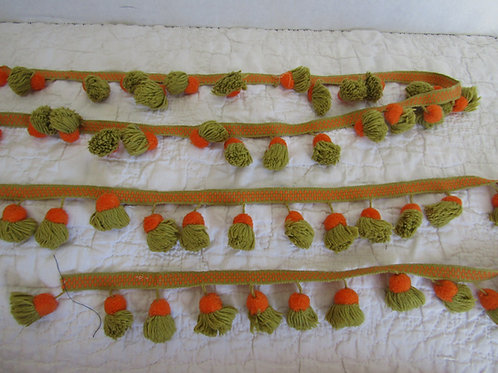 Mid Century Tassel Trim Sewing Craft Supply 2 1/8 yards