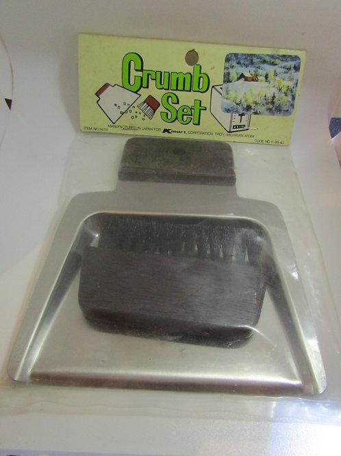 Metal and Wood Crumb Set NOS