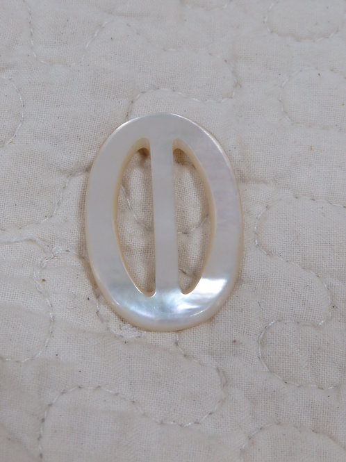 Mother of Pearl Oval Buckle Vintage