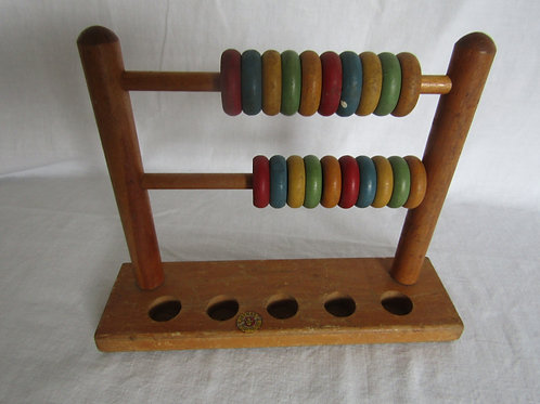 Wood Jaymar Tiny Tot Toy Counting Vintage
