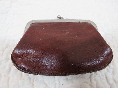 Leather Change Purse Vintage