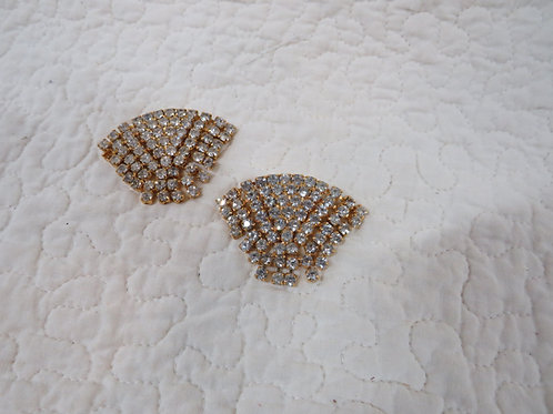 Dress or Shoe Clips Rhinestone Vintage item