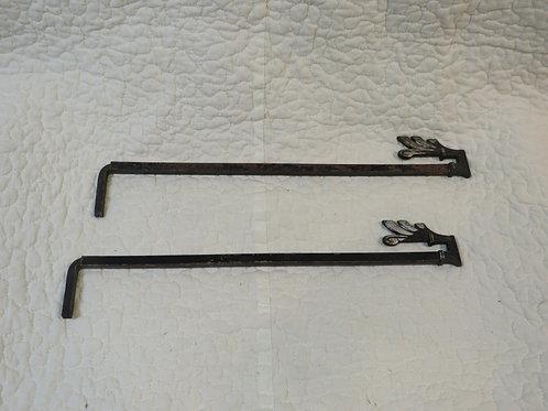 2 Swing arm Drapery/ Curtain Rods Vintage