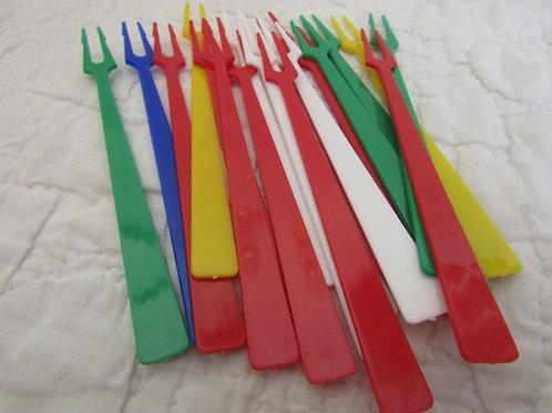 19 Vintage small appetizer forks SALE