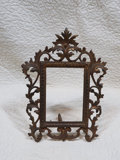 Cast Iron Metal Frame with Stand Antique