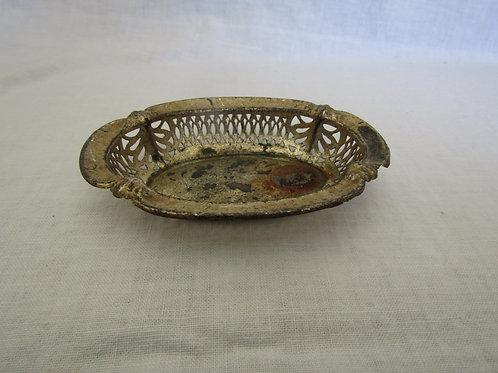 Metal Soap Dish Vintage