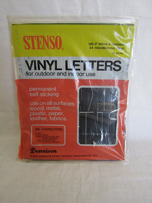 Vinyl Letters & Numbers NOS Vintage Stenso