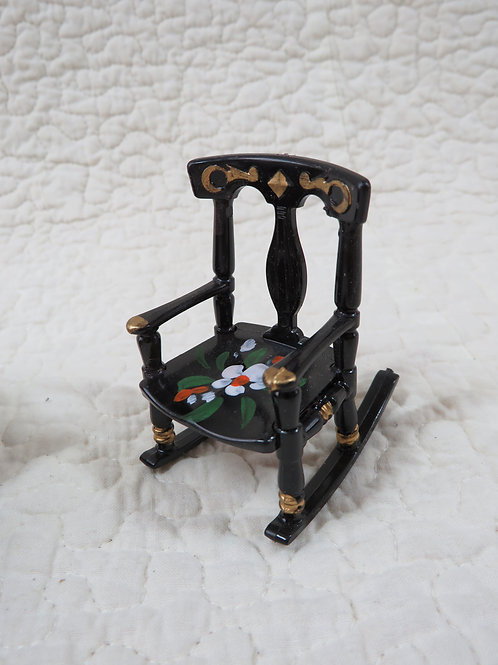 Rocking Chair Doll House Miniature nos Vintage