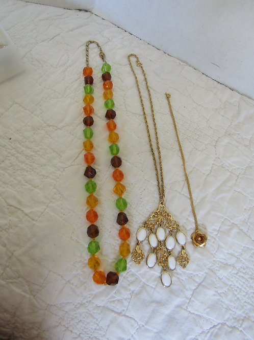 3 Retro Necklaces Lot