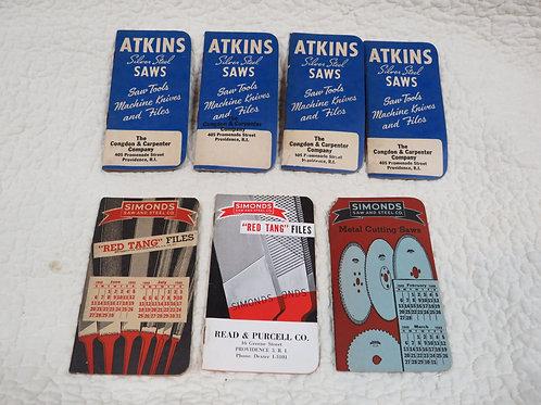 7 Pads Pocket size advertisement for Atkins/Simonds Vintage