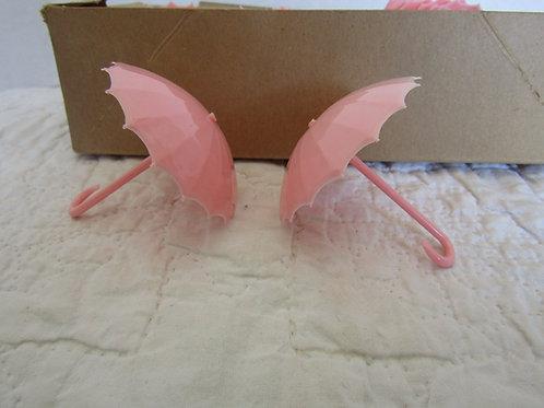 48 + Vintage Small Umbrella's Pink Plastic Favor mid century Wholesale