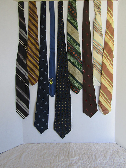 9 Vintage Neckties for Crafts and Cutting