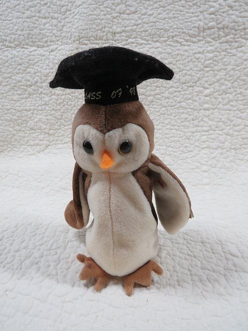 Beanie Baby TY Wise Owl 1998 Graduate Vintage