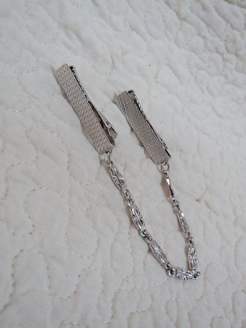 Silver tone metal Sweater Clip / Guard