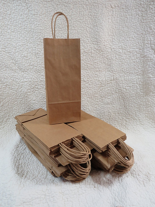 50 Paper Wine Bags with handles new stock