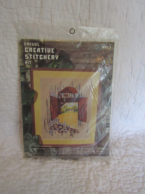 Vintage NOS Crewel Stitching Kit Embroidery