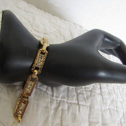 Gold tone and Rhinestone Vintage bracelet