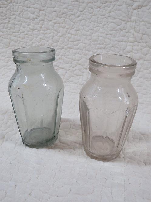 2 Glass Jars Vintage Items