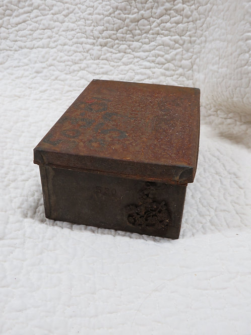 Storage Box with cover from Industrial mill Vintage