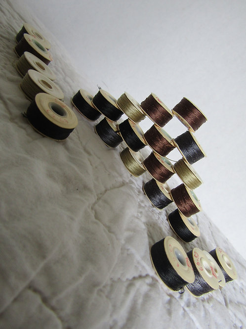 Sewing Bobbins Cardboard 24 Vintage