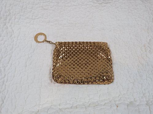 Metal mesh Pouch w/ zipper pull Vintage