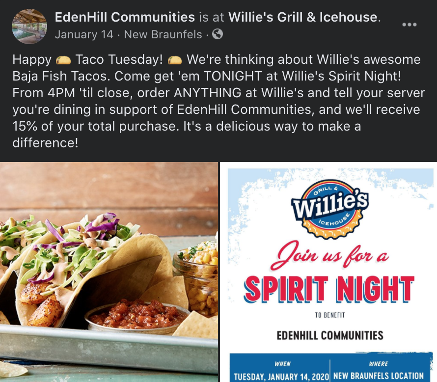 EdenHill Communities - Fundraiser