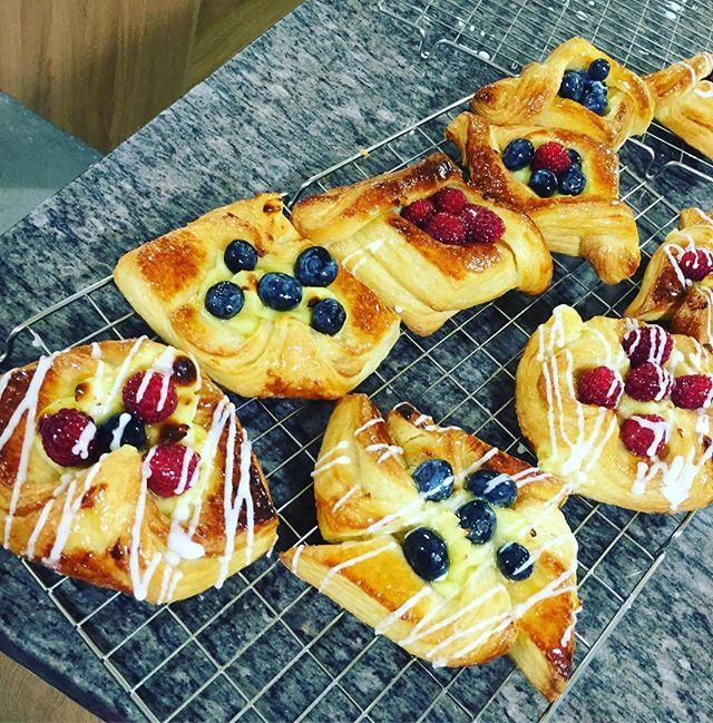 Breakfast treats #breakfast #danishpastry #pastrychef #pasteleria #pastry #sweet #exeterbaker #exete