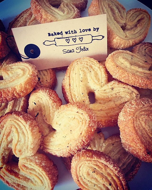 💛Palmiers💛#chefstalk #foodblogger #palmier #puffpastry #vanilla #tasty #pasteis #heartshaped #swee