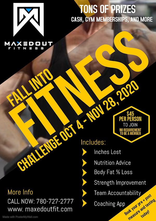 Copy of Fitness Flyer  - Made with Poste