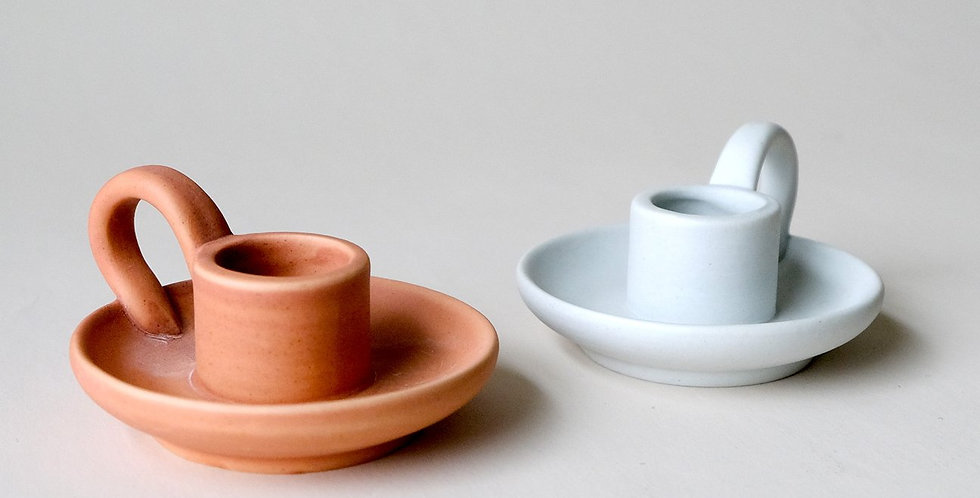 Teacup Ceramic Taper Candle Holder