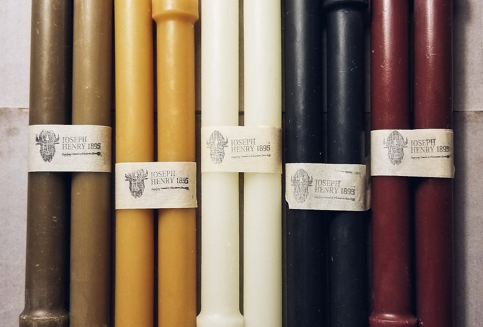 Beeswax Colonial Taper Candle - Set of 2